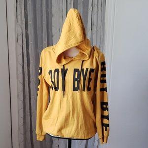 Print hoodie sweater